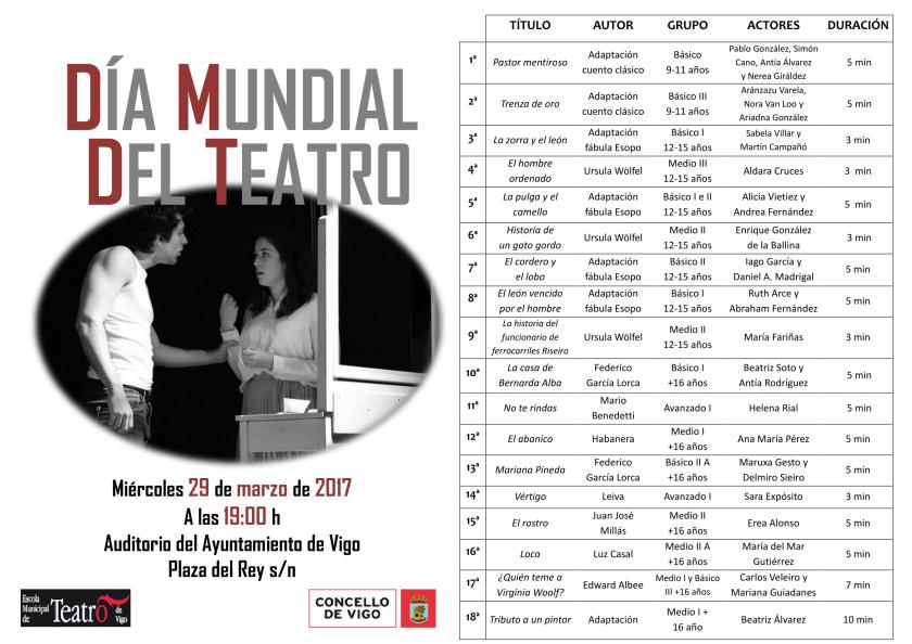 Programación Día Mundial del Teatro (versión web) castellano