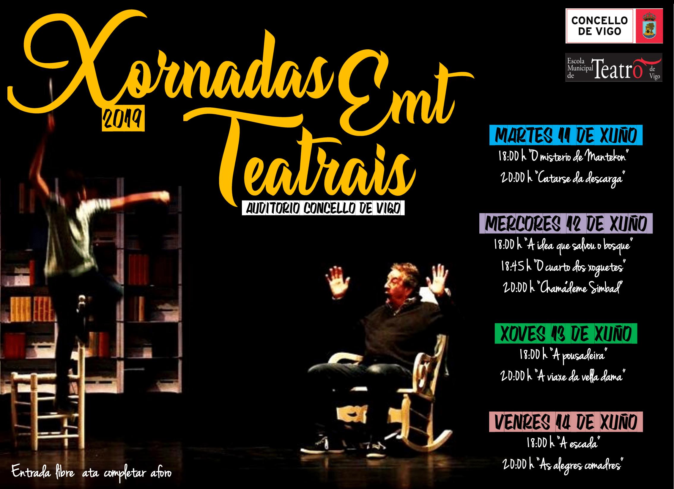Cartel Xornadas Teatrais EMT 2019