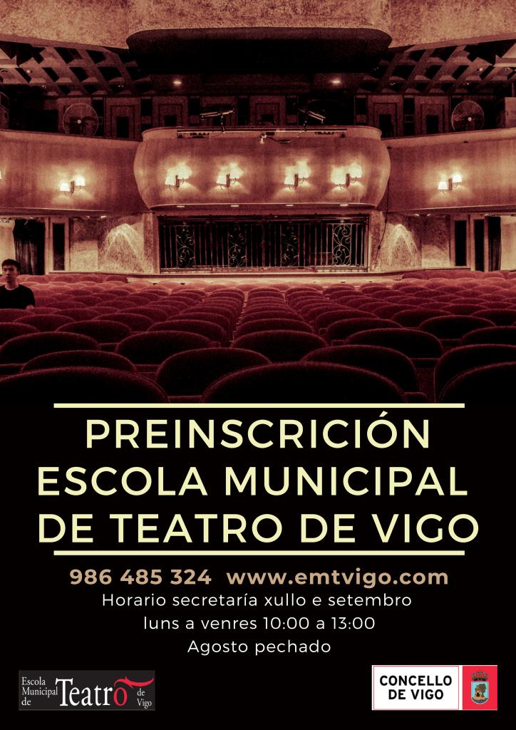 Preinscrición Escola Municipal de Teatro curso 2020-21